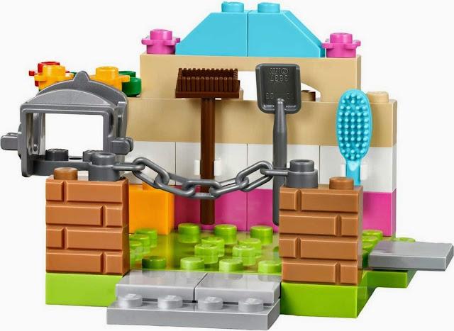 Những chi tiết sặc sỡ, không góc cạnh, an toàn của bộ Lego Juniors 10674 Trang trại ngựa con
