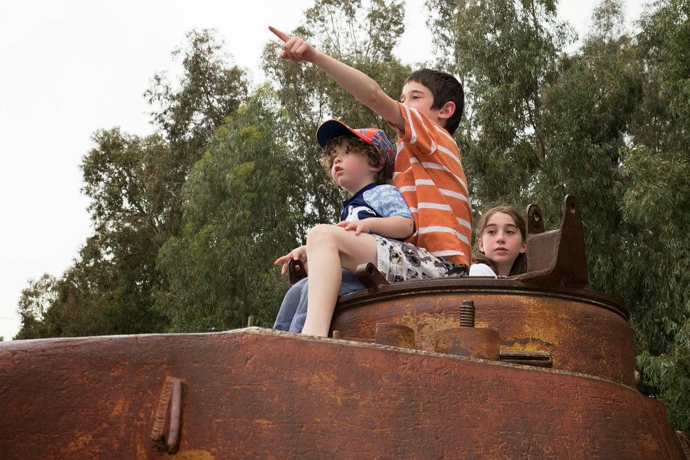Дети на танке