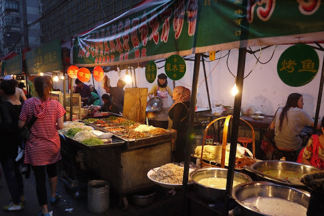 one of the places to eat at Zhengning Street Night Market in Lanzhou, China