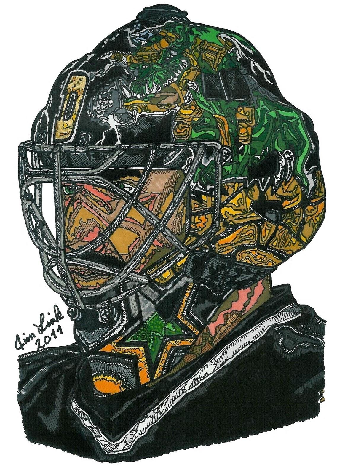 Marty Turco's 2009-2010 Dallas Stars Mask - The Goalie ...  |Marty Turco Mask