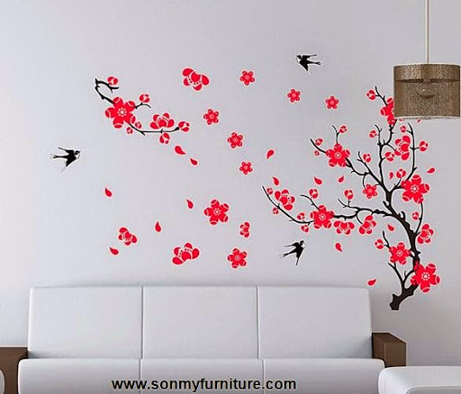 Trang trí nhà đón Tết với giấy dán tường mùa xuân-10