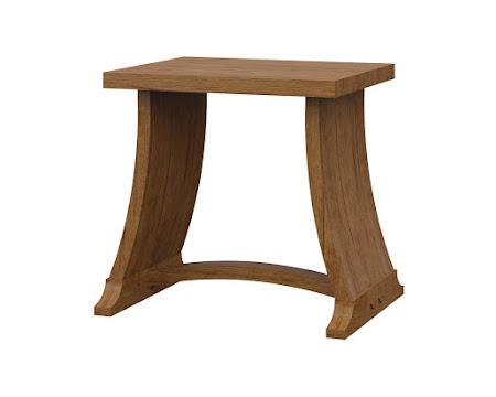 Adagio End Table in Como Maple