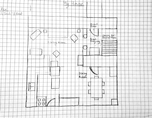 How to draw a floor plan on graph paper for How to draw blueprints