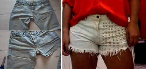 Customizar short jeans