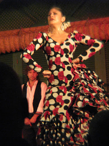 The star of the flamenco dancing show at El Palacio Anadaluz, Seville, Spain