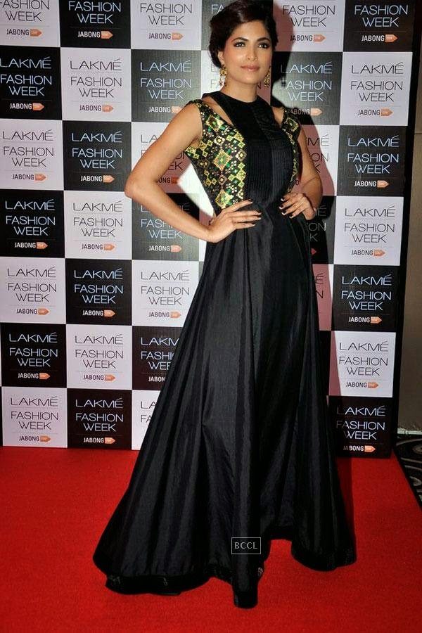 Femina Miss India World 2008 Parvathy Omanakuttan during Lakme Fashion Week curtain-raiser, held in Mumbai, on July 28, 2014. (Pic: Viral Bhayani)
