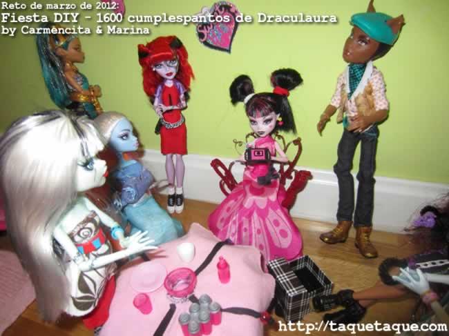 Reto de Marzo de 2012 - Fiesta DIY del 1600 Cumplespantos de Draculaura by Carmencita & Marina