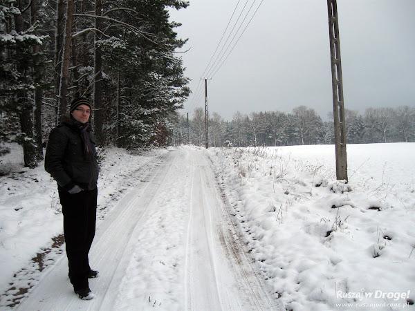 Zimowy spacer po kaszubskich drogach