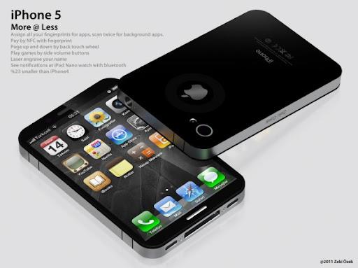 iphone 5 concept by Zeki Ozek, iphone 5, iphone 5 concept