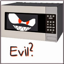 evil microwave cartoon