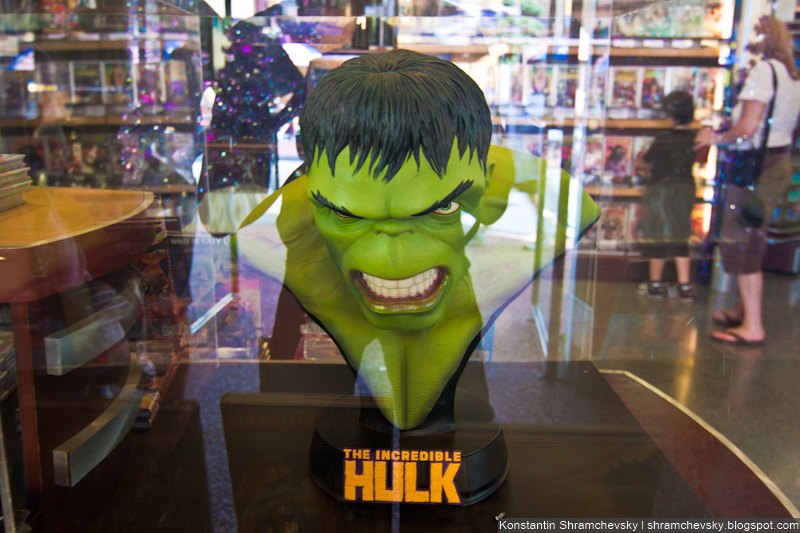 USA Florida Orlando Universal Islands Of Adventure Incredible Hulk Head Memorabilia  США Флорида Орландо Юнивёрсал Айлендс оф Адвенча Острова Приключений Невероятный Халк Голова Сувенир