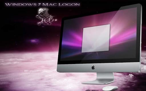 Windows 7 pantalla de inicio Mac Style