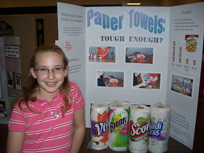 Paper towel science fair projects