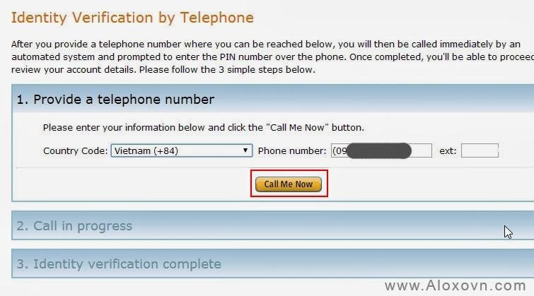 Xác thực số điện thoại Email Amazon SES