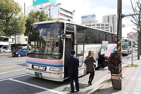 伊予鉄道「キララエクスプレス」 ・・95 福山駅前到着