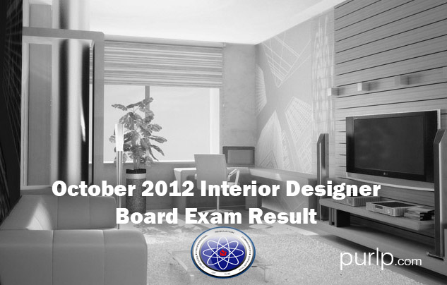 October 2012 Interior Designer Board Exam Official