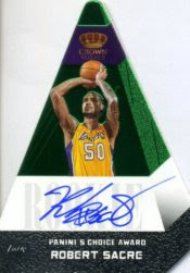 12/13 Panini Preferred Robert Sacre Auto Green