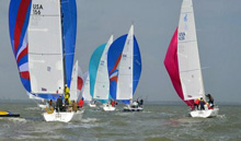 J/105 sailboats- sailing one-design off Houston, Texas