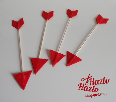 Cómo hacer flechas del amor para San Valentín.
