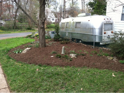 It's been sitting on all flats for the 6 years we've lived here. DUMB AIRSTREAM.