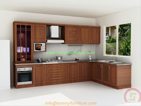 Tủ bếp gỗ tự nhiên BESM0106