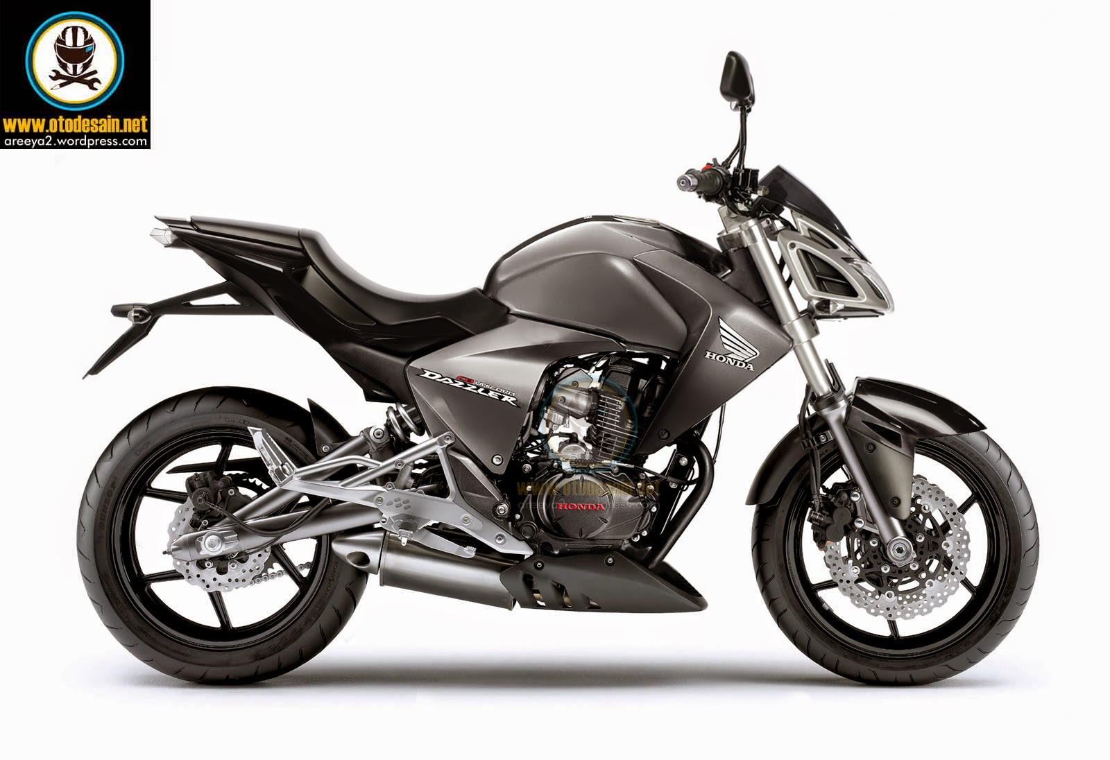 Honda New Megapro Modifikasi Street Fighter