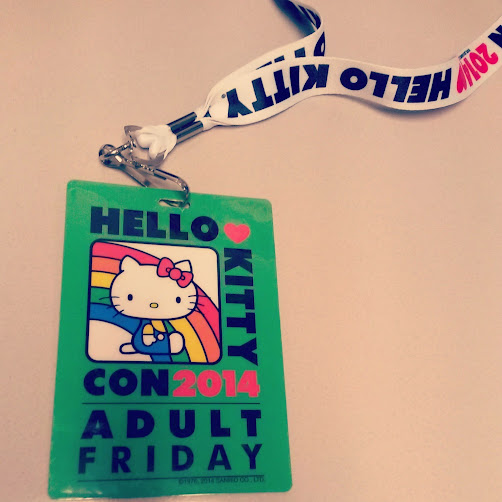Hello Kitty Con badge