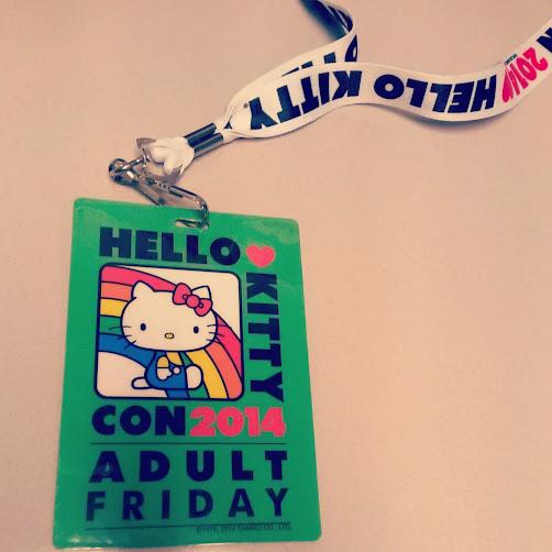 Hello Kitty Con badge