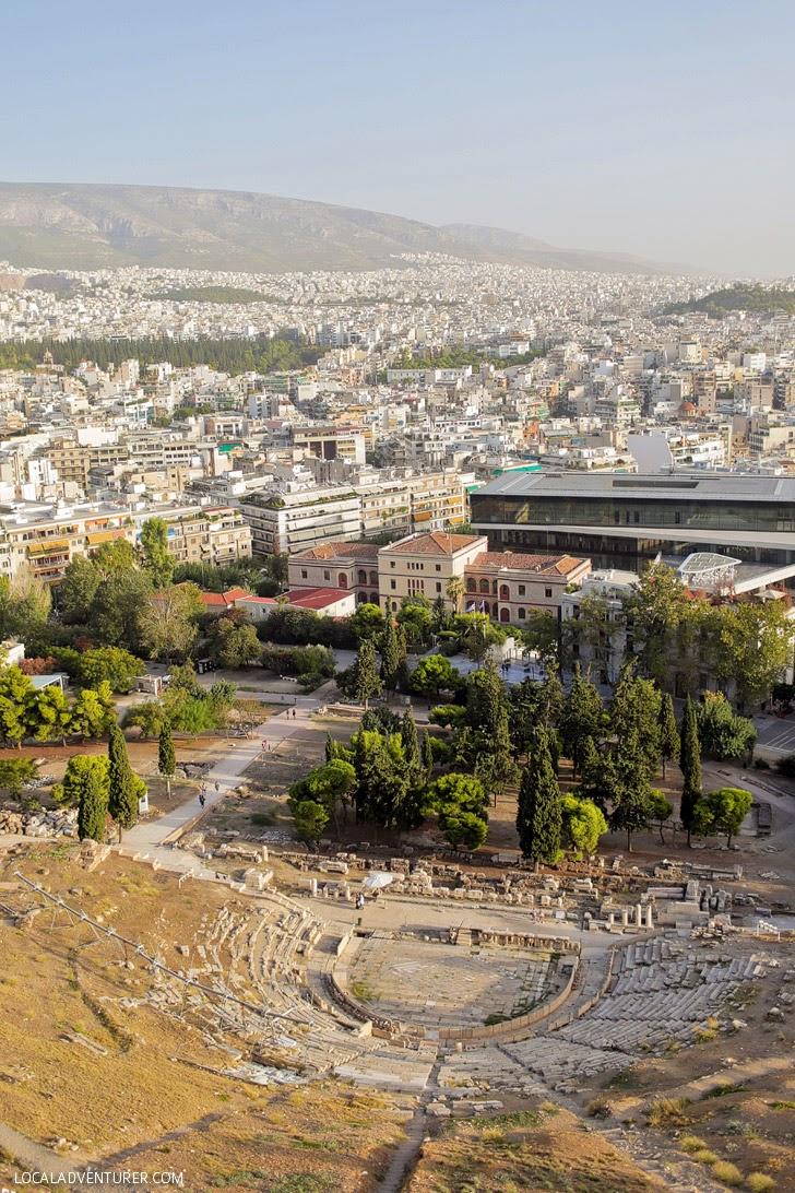 Temenos of Dionysus or Dionysus Theatre in The Acropolis of Athens.
