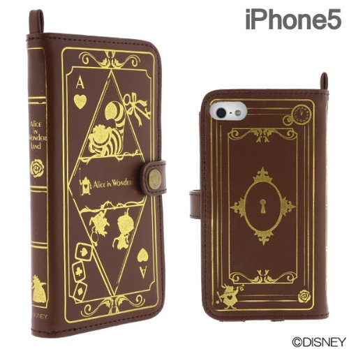 Disney Old Book Case for iPhone5 Alice in Wonderland