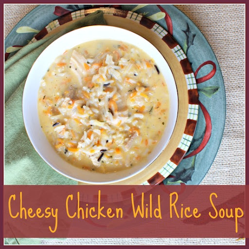 Cheesy Chicken and Wild Rice Soup by 3 Little Greenwoods