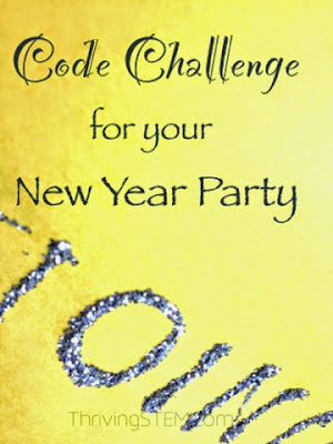 Here is a fun challenge for your New Year Party guests or Middle School computer club!  You could even use it as an extension for elementary students studying place value.