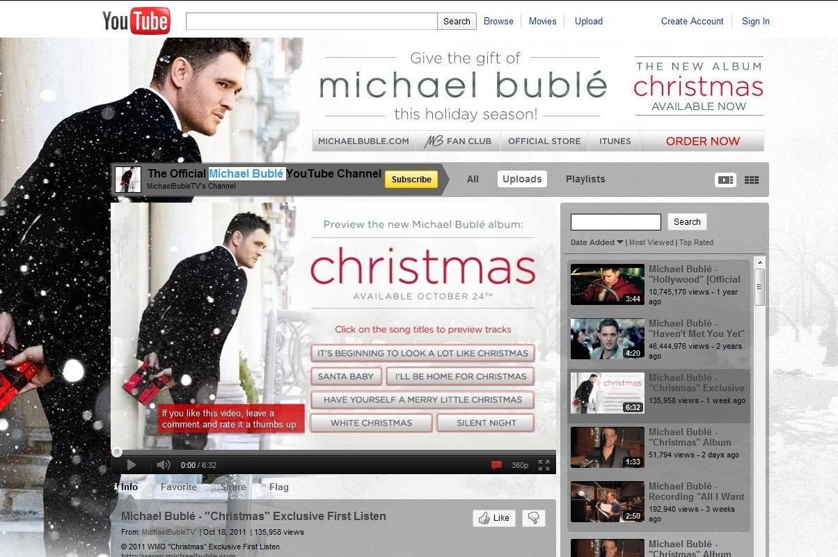 Michael Bublé Gets an Early Jump on Promoting His New Christmas Album/CD