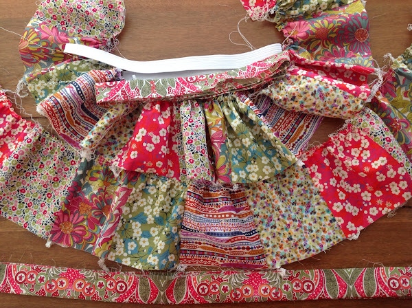 Liberty Girls Patchwork Skirt (in progress) by Rhapsody and Thread