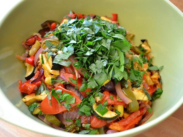 combine vegetables couscous