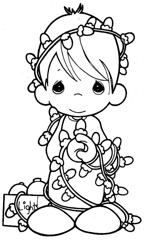 precious moments chritsmas coloring pages - photo#2