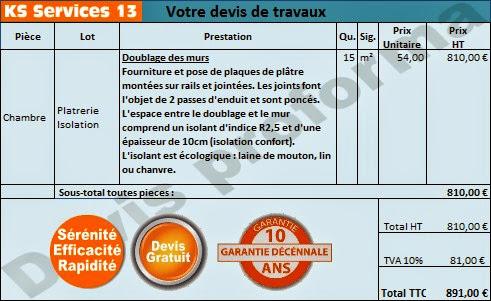 Devis facture telecharger for Devis plomberie maison 120m2
