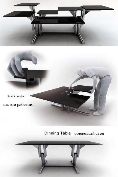 Регулируемый обеденный стол AdjusTable от Riccardo Bovo