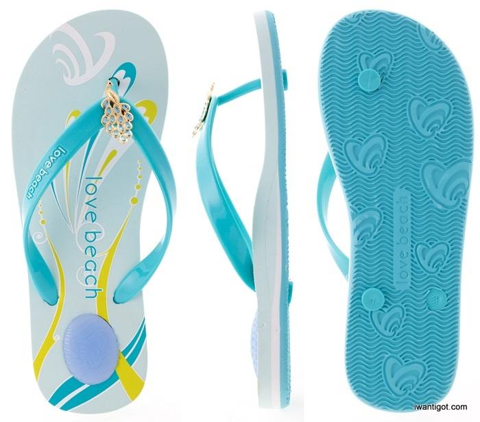 Love Beach Flip Flops