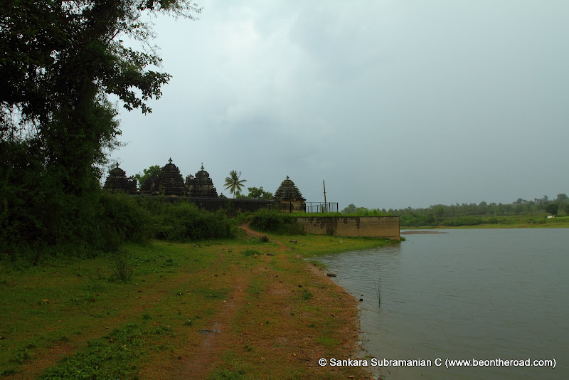 Doddagaddavalli's Lakshmi Devi Temple Campus from the lake behind