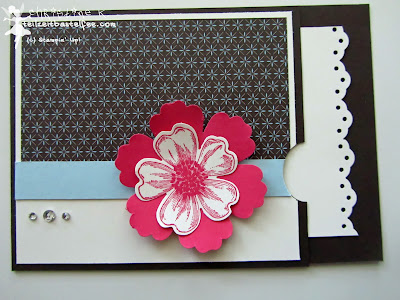 stampin up, challenge, flower shop, spitzenbordüre, festival der vielfalt, mixed bunch