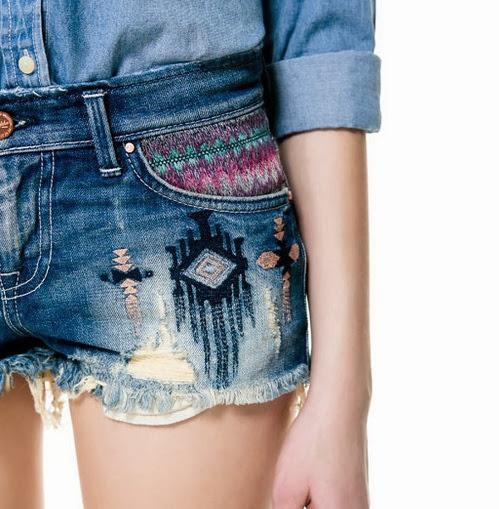 Inspiração: estampa étnica - short jeans
