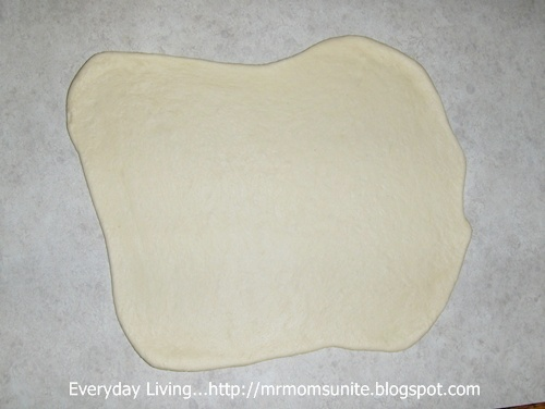 photo of rolled calzone dough