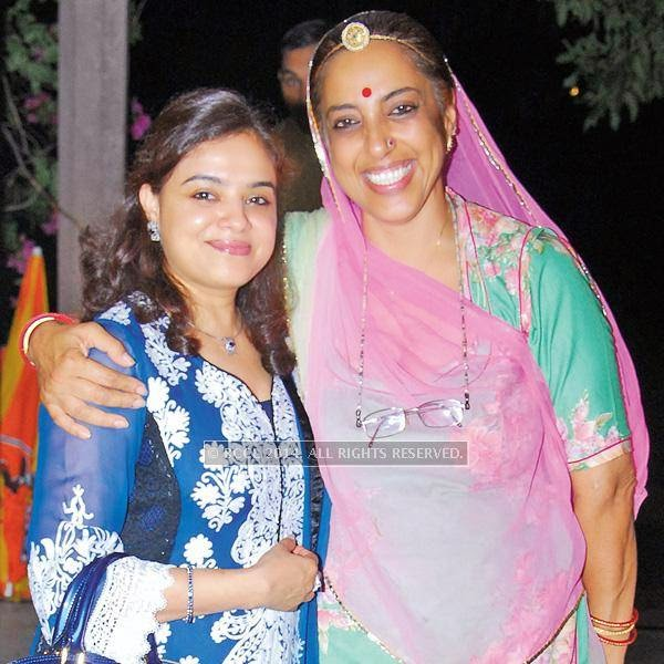 Bela Badhalia (L) and Jyotika Diggi during an Iftaar party, hosted by David Lelliott, British deputy high commissioner, Chandigarh, at Diggi Palace, in Jaipur.