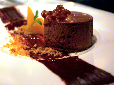 Chocolate mousse at Koffmann's in London