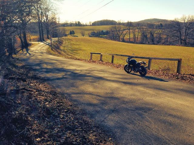 Winter Ducati Ride in Chester County Pennsylvania via Tigho NYDucati Country Roads