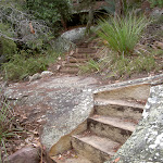 Stone cut stairs to West Head Lookout (28424)