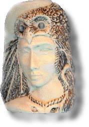 Goddess Owl Woman Image