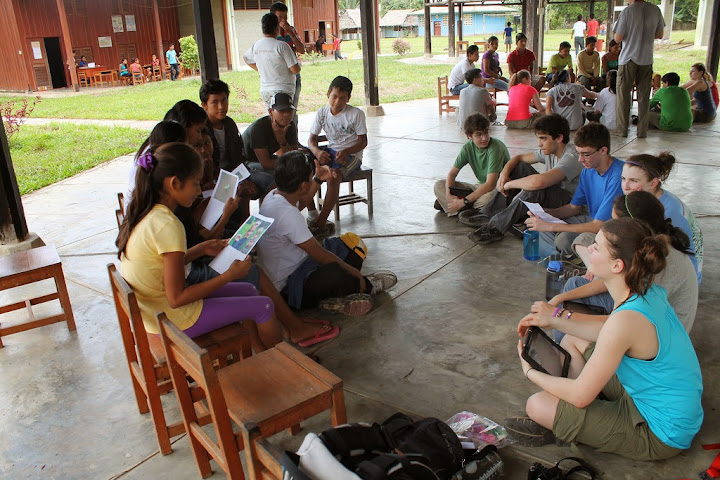 Research in the Amazon - an information exchange among students