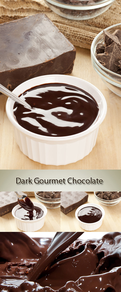 Stock Photo: Dark Gourmet Chocolate